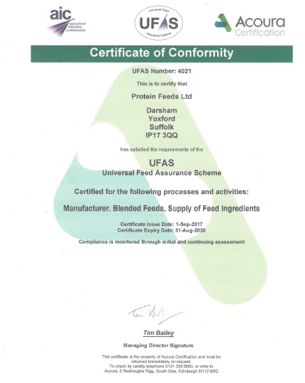 Accreditation UFAS Certificate
